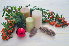 Candles and Christmas Royalty Free Stock Photo