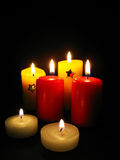 Candles, Christmas still life stock photography