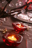 Candles on Christmas table