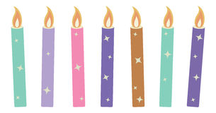 Candles - Christmas Vector Illustration Royalty Free Stock Photos