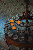 Candles in Chuch Royalty Free Stock Photography