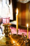 Candles in church Royalty Free Stock Photography