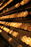 Candles in church Royalty Free Stock Photos