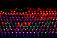 Candles at church. Candles burning at montserrat cathedral in catalonia Royalty Free Stock Image