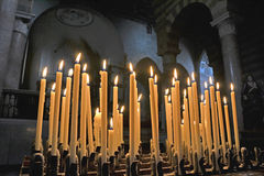 Candles in a church Stock Photos