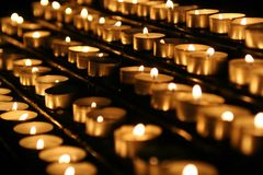Candles in a church Royalty Free Stock Images