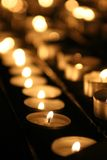 Candles in a church Stock Photo