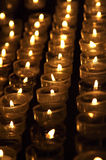 Candles in church. Candles in the Cologne cathedral, Germany Royalty Free Stock Images