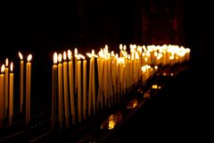 Candles in a church Royalty Free Stock Photo