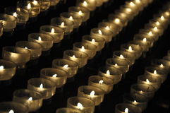 Candles in a church. Candle sacrifices in a church Royalty Free Stock Photos