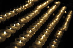 Candles in a church. Candle sacrifices in a church Royalty Free Stock Photography