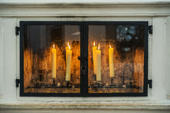 Candles in a church in Bavaria Germany Stock Photography