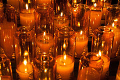Candles in a church Stock Photography