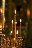 Candles in a church Stock Photos