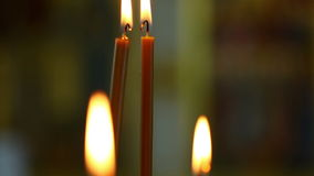 Candles in church stock video
