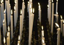 Candles in church Royalty Free Stock Image