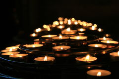 Candles in a church Royalty Free Stock Image