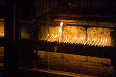 Candles in the Church of the Holy Sepulcher Royalty Free Stock Photography