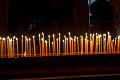Candles in the Church of the Holy Sepulchre Stock Photo