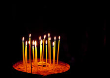 Candles at the Church of the Holy Sepulchre Royalty Free Stock Photo