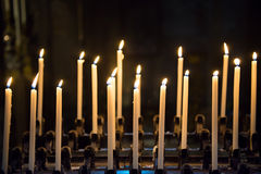 Candles in the church Royalty Free Stock Photography