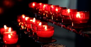 Candles, Church, Light, Lights Royalty Free Stock Images