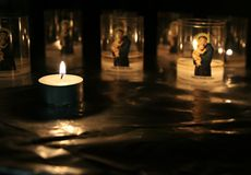 Candles in the church Stock Image