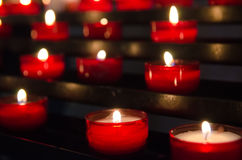 Candles in church Stock Photos
