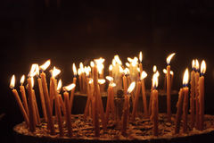 Candles in the Church of the Nativity Royalty Free Stock Photos