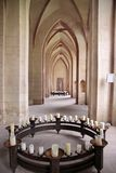 Candles in church nave Royalty Free Stock Photos