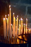 Candles in church, in northern France Stock Images