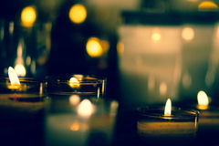 Candles at church - Notre Dame Bon Voyage. Cannes, France Royalty Free Stock Photo