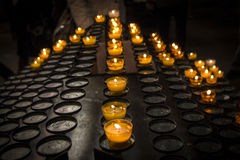 Candles Church Stock Images