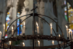 Candles in the Church Royalty Free Stock Images
