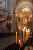 Candles in the church Royalty Free Stock Image