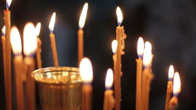 Candles in the church-1920x1080 Royalty Free Stock Image