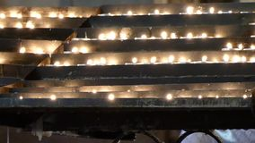 Candles in church, Zagreb Cathedral. stock video