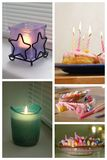 Candles collage Royalty Free Stock Image