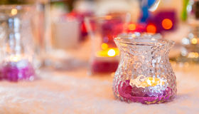Candles. Colored on the table Royalty Free Stock Photography