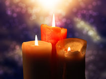 Candles colorful Royalty Free Stock Photo