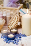 candles composition spa Στοκ εικόνα με δικαίωμα ελεύθερης χρήσης
