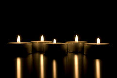 Candles conceptual image. Lots of candles Royalty Free Stock Photos