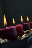 Candles in the dark. Stock Images
