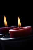 Candles in the dark. stock photos