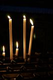 Candles in the dark royalty free stock photos