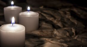 Candles on dark Royalty Free Stock Photo