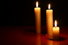 Candles On Dark Royalty Free Stock Images