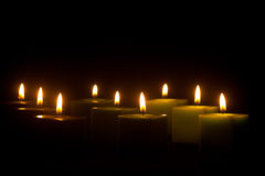 Candles in the dark Stock Photos