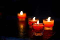 Candles in the dark Stock Photography