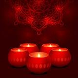 Candles dark mandala Royalty Free Stock Photo